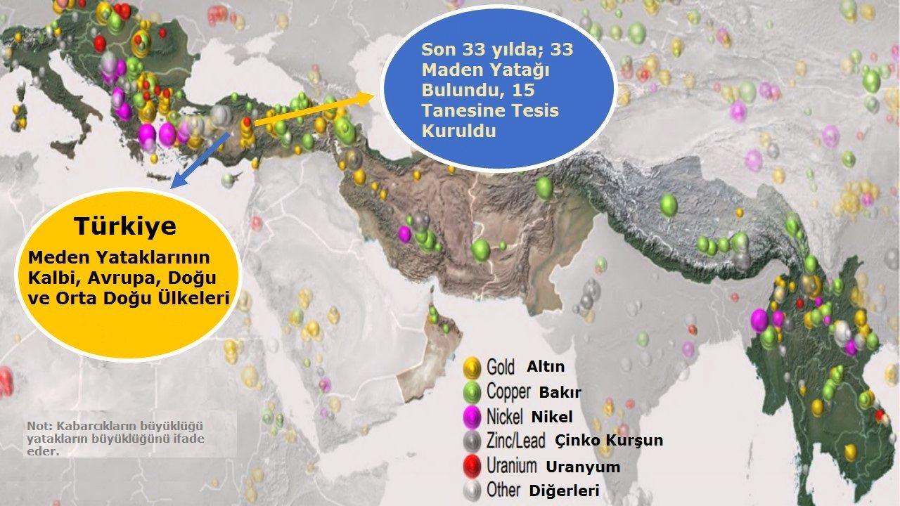 Türkiye ve dünya altın yatakları haritası