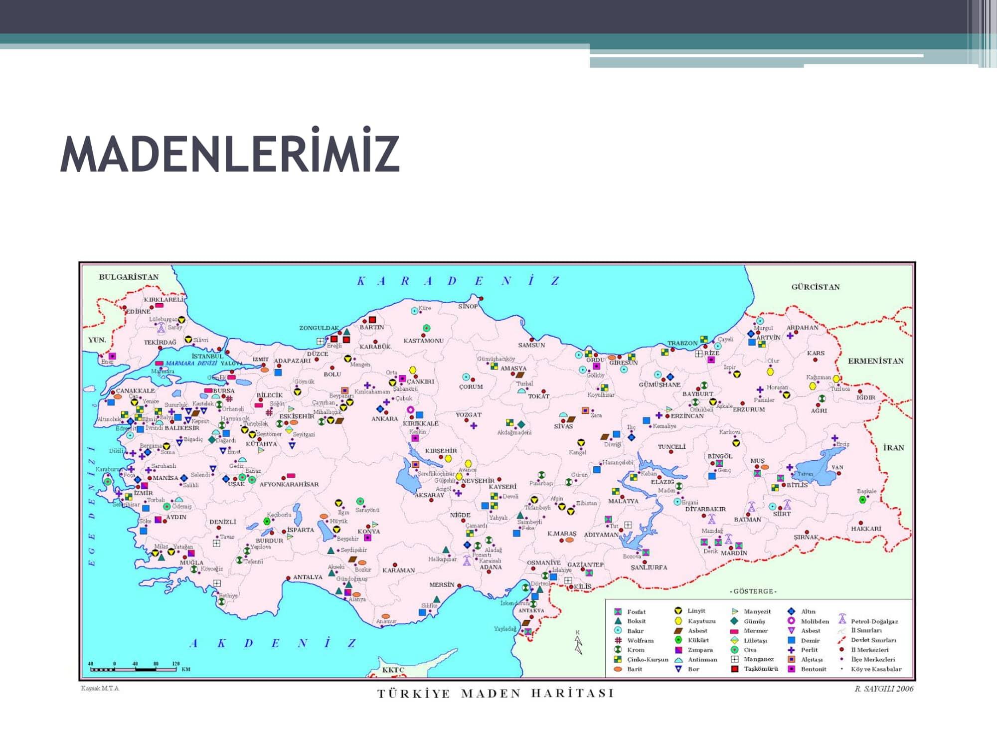 maden haritası